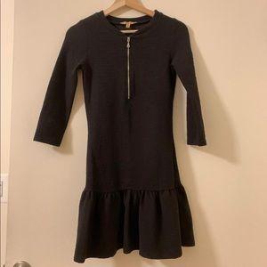 Zara Trafaluc black zipper dress